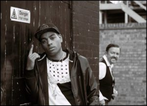 David Brent and rapper in Life of the Road